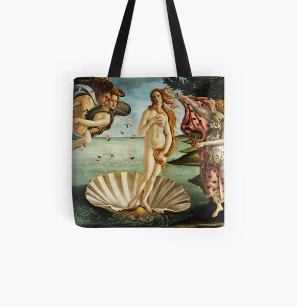 Iconic Sandro Botticelli The Birth of Venus All Over Print Tote Bag