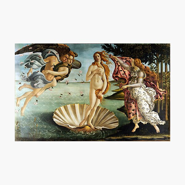 Iconic Sandro Botticelli The Birth of Venus Photographic Print