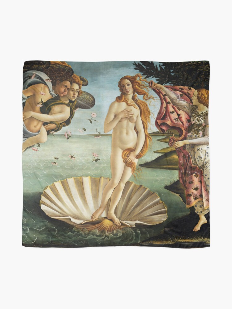 Alternate view of Iconic Sandro Botticelli The Birth of Venus Scarf