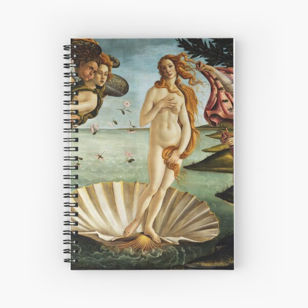 Iconic Sandro Botticelli The Birth of Venus Spiral Notebook