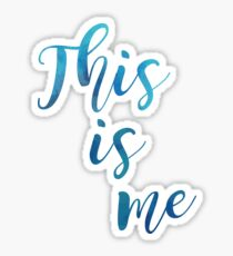 """This is Me"" light blue watercolour Sticker"