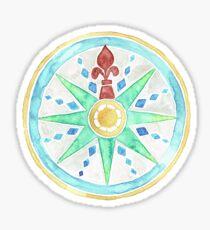 Watercolor Compass  Sticker