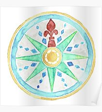 Watercolor Compass  Poster