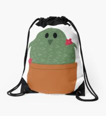 Penguin Cactus Drawstring Bag