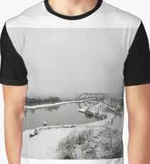 Winter Day at Falkirk Wheel Graphic T-Shirt
