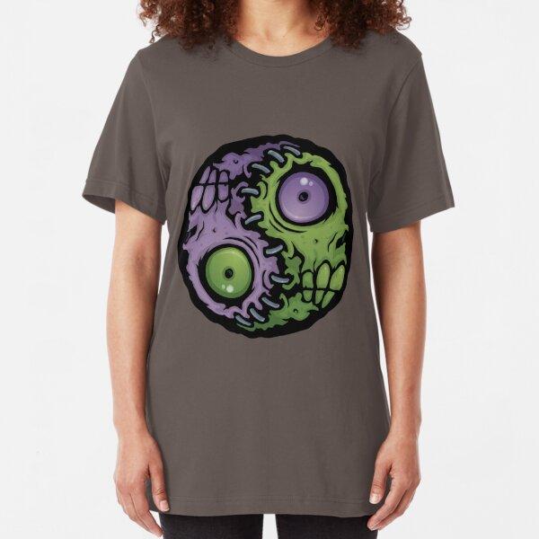 Zombie Yin-Yang Slim Fit T-Shirt