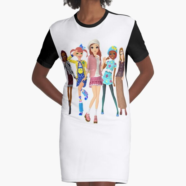 Style Savvy Fashion Forward Girls Bold Graphic T Shirt Dress By Dubukat Redbubble