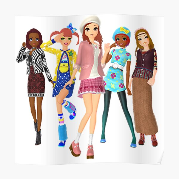 Style Savvy Fashion Forward Girls Bold Poster By Dubukat Redbubble