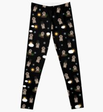 Groundhog Day Pattern Leggings
