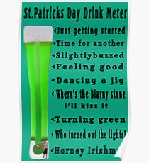 ☁ ST. PATRICKS DAY DRINK METER ☁  Poster