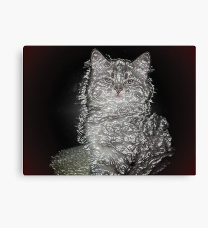 Plastic Cat Canvas Print