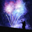 Blue and pink fireworks by savousepate