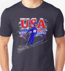 USA 2018 Winter Games US South Korea Sports T-shirt Unisex T-Shirt