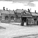 172 - BLYTH RAILWAY STATION - DAVE EDWARDS - INK - 1990 by BLYTHART