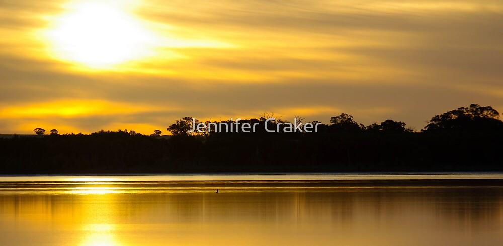 Golden Sunset at Pink Lake by Jennifer Craker