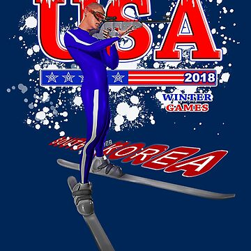 USA 2018 Winter Games US South Korea Sports T-shirt by WearYourVoice