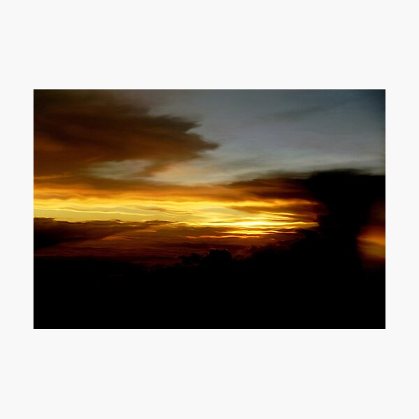 Sunset above the clouds Photographic Print
