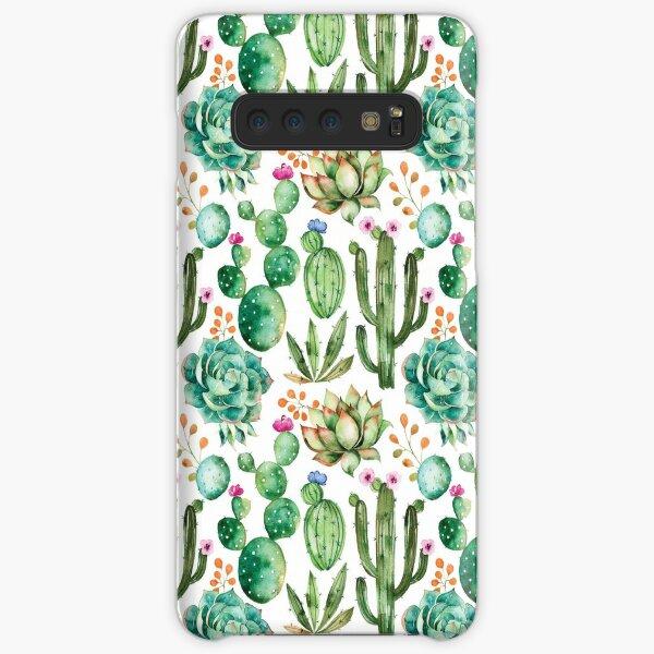 Watercolor Cactus Pattern Samsung Galaxy Snap Case
