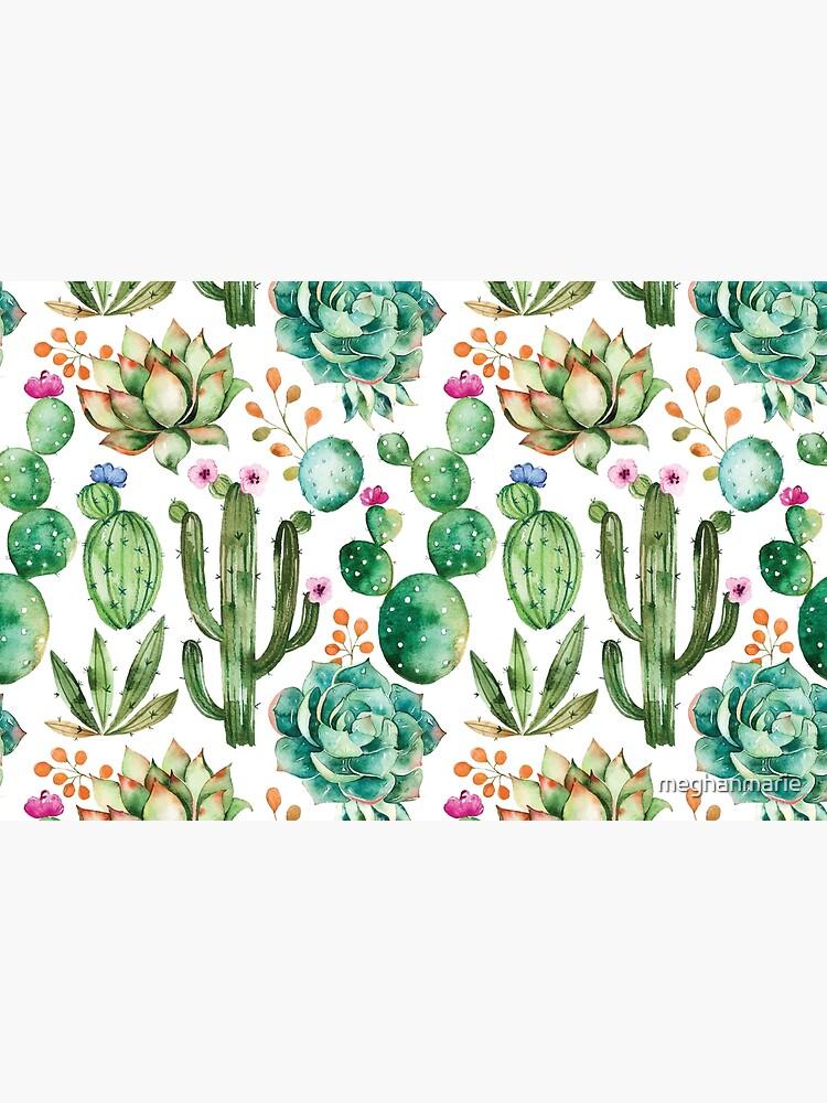 Watercolor Cactus Pattern by meghanmarie