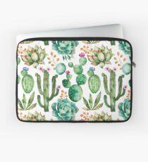 Aquarell Kaktus-Muster Laptoptasche