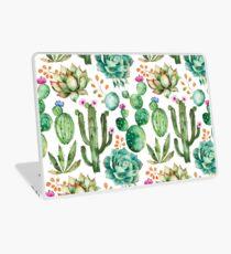 Aquarell Kaktus-Muster Laptop Skin