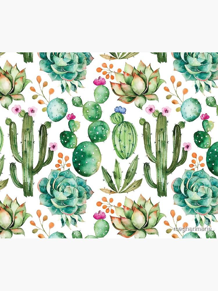 Aquarell Kaktus-Muster von meghanmarie