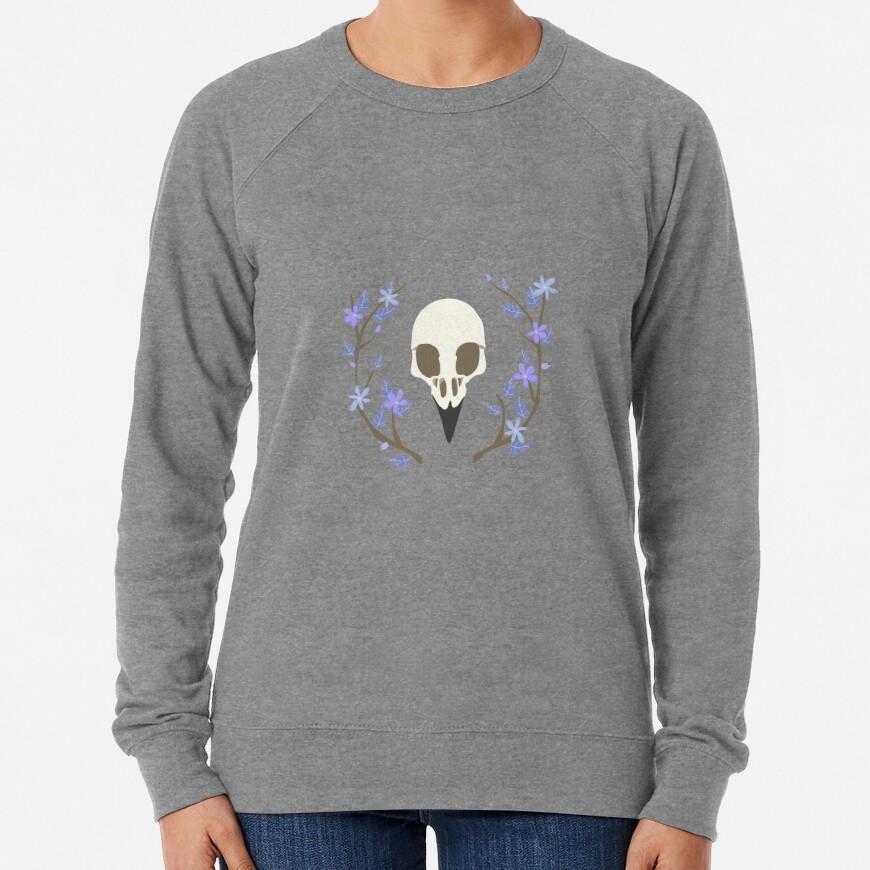 Bird Skull Lightweight Sweatshirt