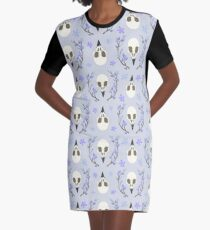 Bird Skull Graphic T-Shirt Dress