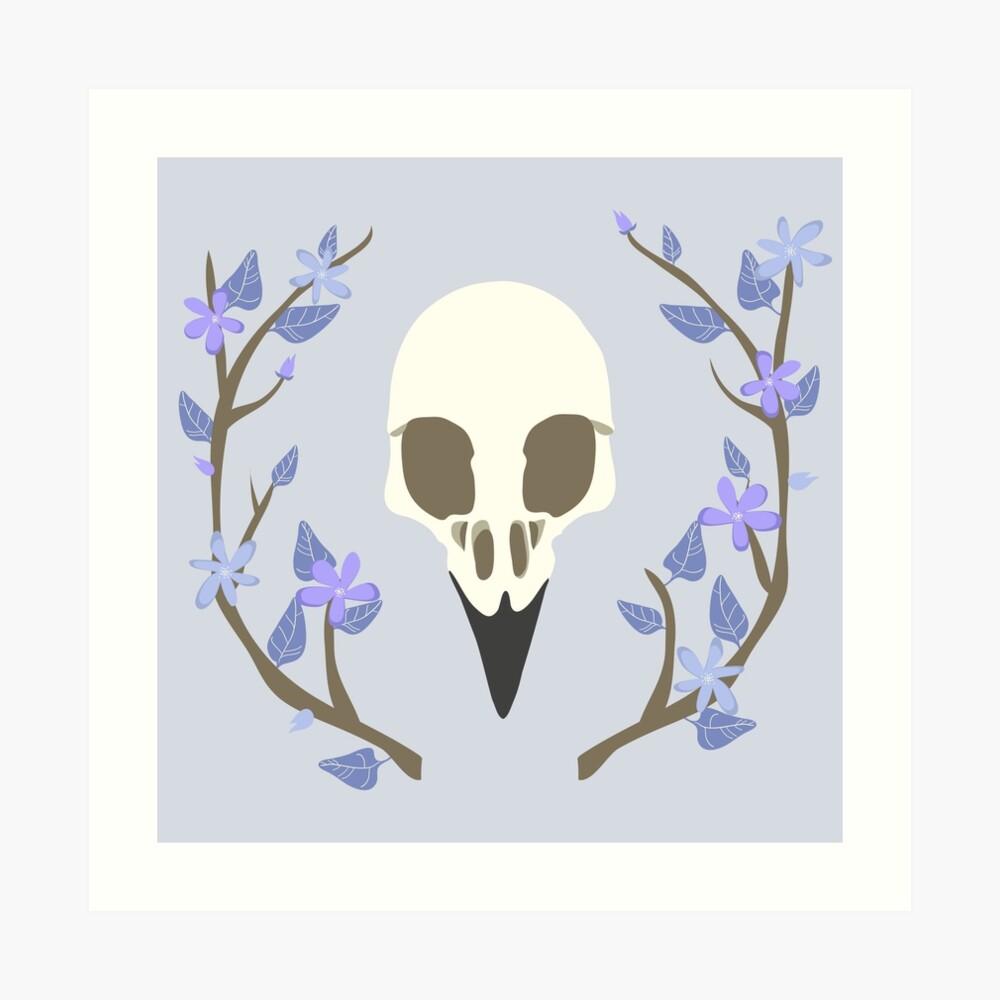 Bird Skull Art Print