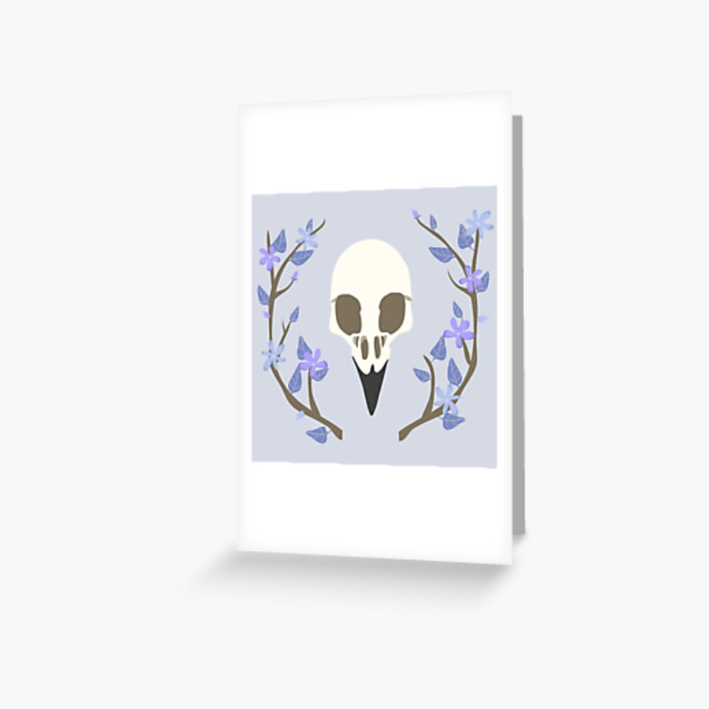 Bird Skull Greeting Card