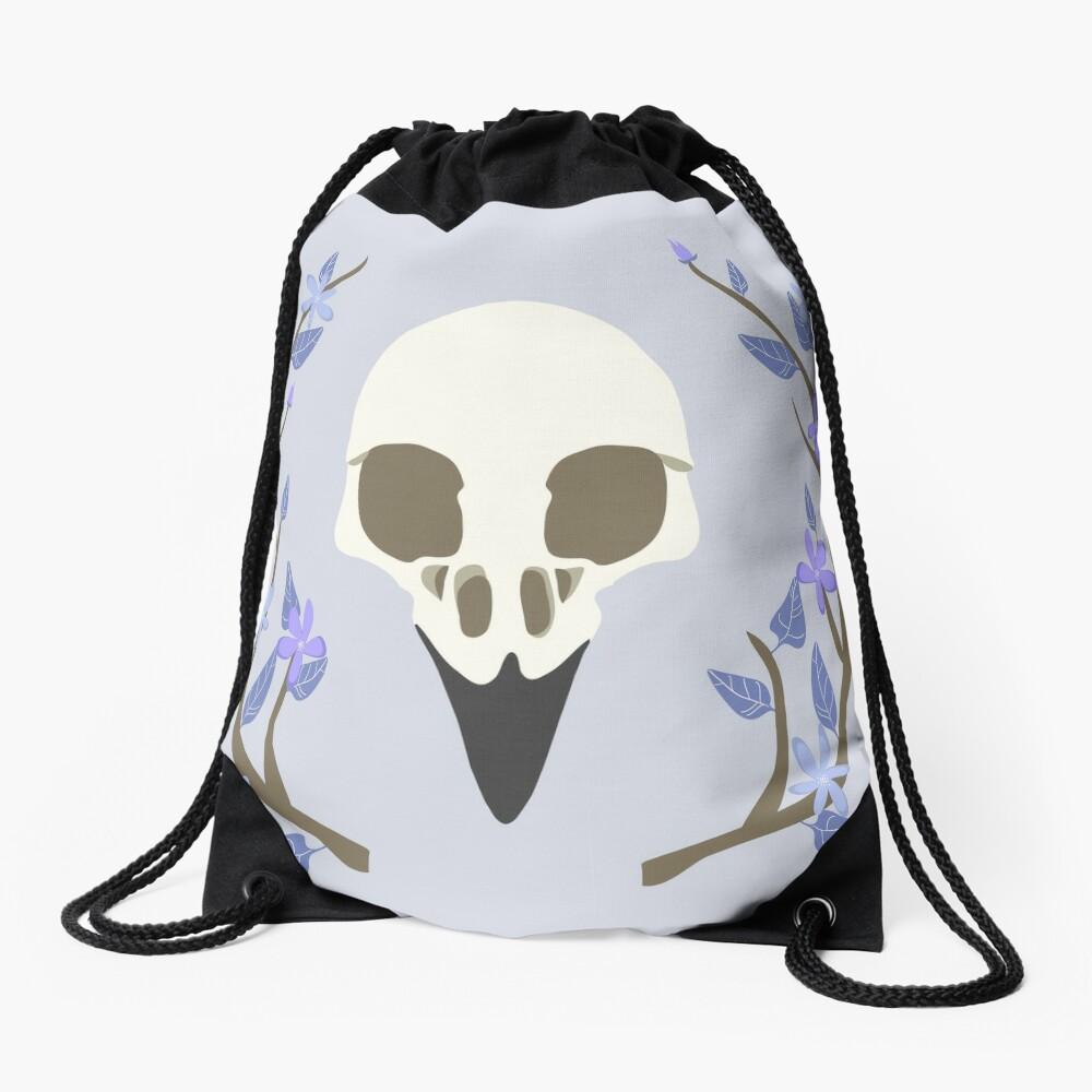 Bird Skull Drawstring Bag
