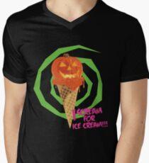 I Scream For Ice Cream!!! (Halloween Flavored) Men's V-Neck T-Shirt