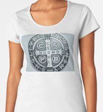 Saint Benedict Cross medal photograph Women's Premium T-Shirt
