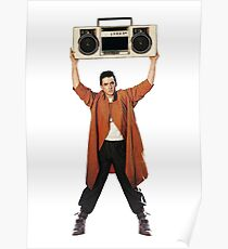 SAY ANYTHING John Cusack holds up a boombox boom box Lloyd Dobler and Diane Court Ione Skye Peter Gabriel In Your Eyes iconic moment 1989 movie movies film 80s  stereo  Poster