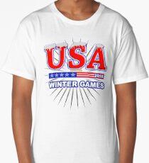 USA 2018 Winter Games US South Korea Sports T-shirt Long T-Shirt