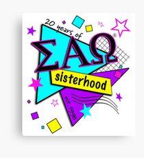 20 years of sisterhood Canvas Print