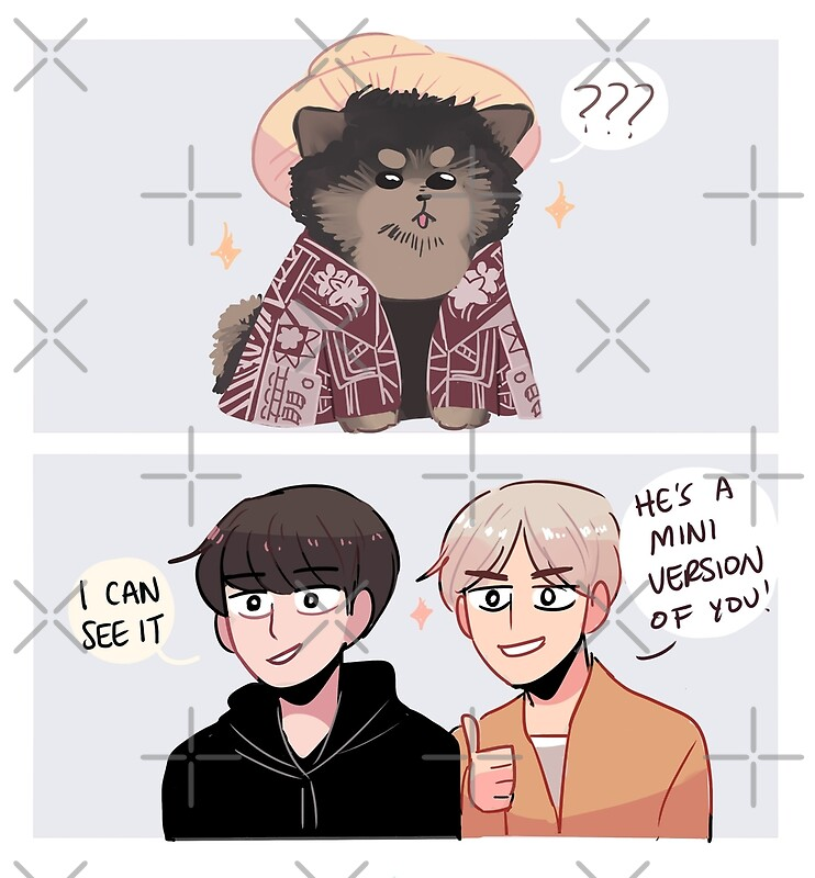 BTS: YEONTAN IN JK'S HAWAII MEME OUTFIT | Art Print