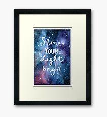 Shine Your Light Bright Framed Print