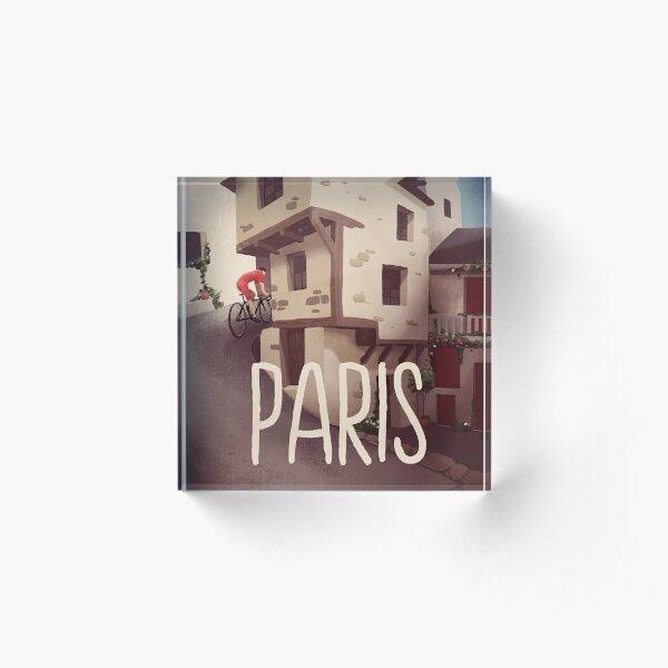 """Paris"" Cyling Poster Acrylic Block"