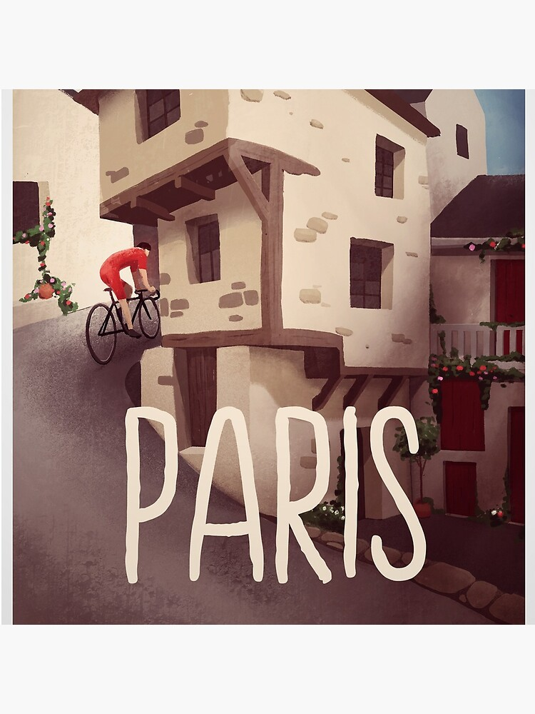 """""""Paris"""" Cyling Poster by superchezbro"""