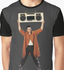 SAY ANYTHING John Cusack holds up a boombox boom box Lloyd Dobler and Diane Court Ione Skye Peter Gabriel In Your Eyes iconic moment 1989 movie movies film 80s  stereo  Graphic T-Shirt