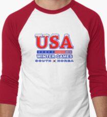 USA 2018 Winter Games US South Korea Sports T-shirt Men's Baseball ¾ T-Shirt