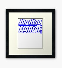 BJJ Blue Belt Jiu Jitsu Fighter Framed Print