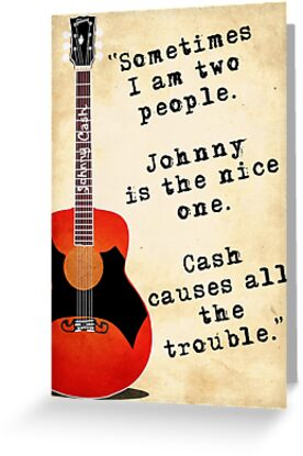 Johnny cash gibson guitar greeting cards by atticjunk redbubble johnny cash gibson guitar m4hsunfo