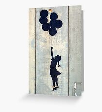 Floating Balloons by Banksy Greeting Card