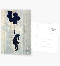 Floating Balloons by Banksy Postcards