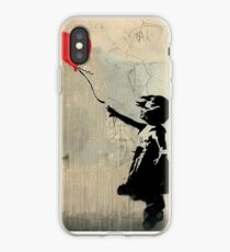 Banksy Red Heart Balloon iPhone Case