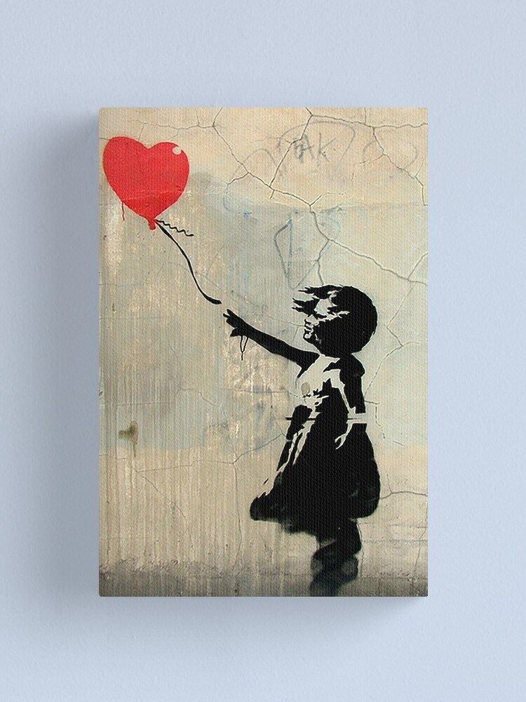 Alternate view of Banksy Red Heart Balloon Canvas Print