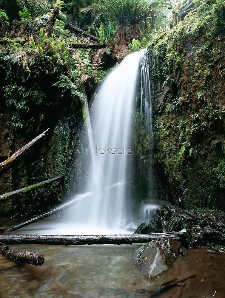 Forest waterfall by leksele