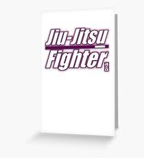 BJJ Purple Belt Jiu Jitsu Fighter Greeting Card